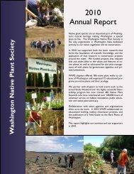 2010 Annual Report - Washington Native Plant Society