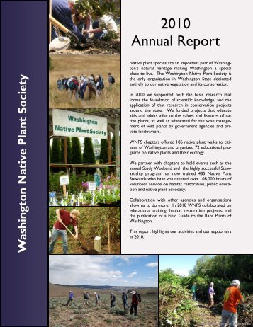2010 Annual Report - Washington Native Plant Society
