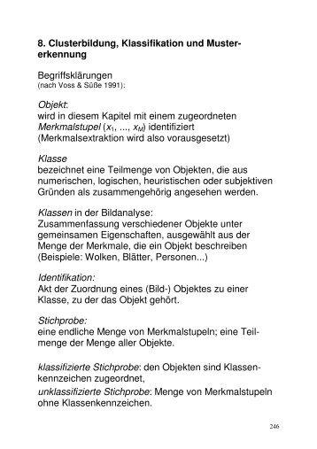 Clusterbildung, Klassifikation und Mustererkennung (PDF)