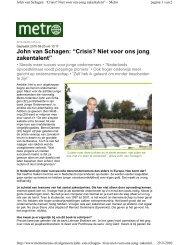 Metro / GPD kranten (boek Jonge Ondernemers) - Bencom