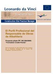 El Perfil Profesional del Responsable de Obras de Albañilería