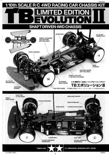 I 1 10th SCALE R C 4WD RACING CAR CHASSIS KIT - Tamiya