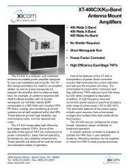 XICOM, XT-400C/X/Ku-Band Antenna Mount Amplifiers