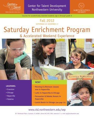 sep spring 2008 - Center for Talent Development :: Northwestern ...