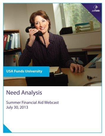 Need Analysis Manual - USA Funds