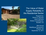 The Value of Water Supply Reliability in the Residential Sector