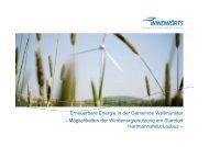 Möglichkeiten der Windenergienutzung am Standort ... - Weilmünster
