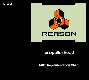 Reason 4 Midi implementation Chart - Propellerhead