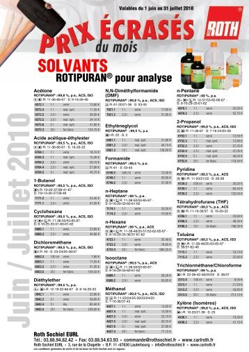 SOLVANTS - bei Carl Roth