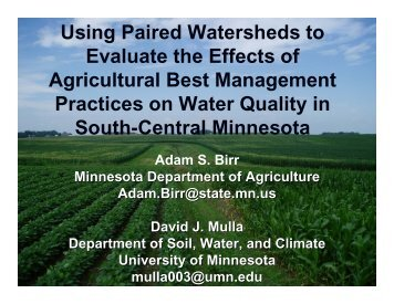 Adam Birr SWCS 2006 - Soil and Water Conservation Society