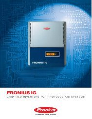 Fronius IG 2000-3000 - Adobe Solar