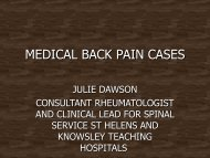 medical back pain cases