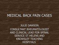 medical back pain cases