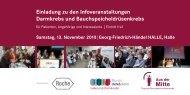Einladung zu den Infoveranstaltungen Darmkrebs und ... - St. Georg