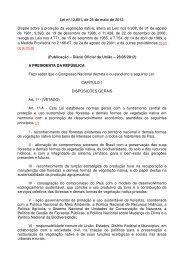 Lei nº 12.651, de 25 de maio de 2012. Dispõe sobre a proteção da ...