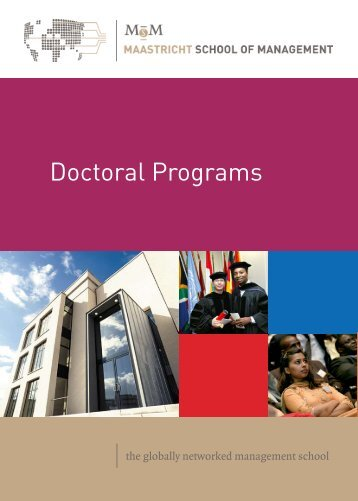 Doctoral Programs - WiWi-Online