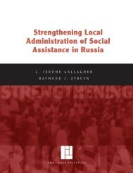 Strengthening Local Administration of Social ... - Urban Institute