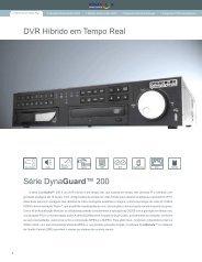 DVR Híbrido em Tempo Real Série DynaGuard™ 200