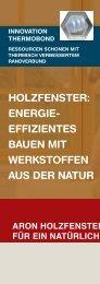 HOLZFENSTER: ENERGIE- EFFIZIENTES BAUEN MIT ... - Aron