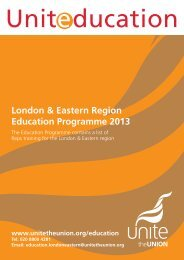 London & Eastern Region Education Programme ... - Unite the Union