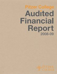 2008-09 Audited Financial Report - Pitzer College