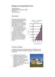 Biogas as transportation fuel