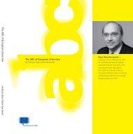 The ABC of European Union law The A BC o f Eu ro pean U n io n law
