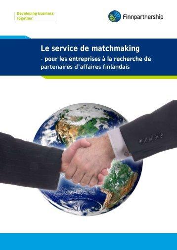Le service de matchmaking - Finnpartnership
