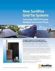 12th Edition of the SunWize Products Catalog