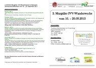 2. Murgtäler IVV-Wanderwoche vom 16. – 20.09.2013 - Toubiz