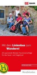 Mit dem Linienbus zum Wandern! 2013