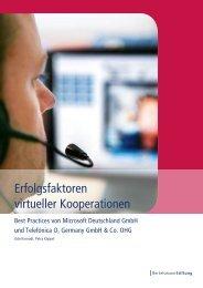 Erfolgsfaktoren virtueller Kooperationen - Bertelsmann Stiftung