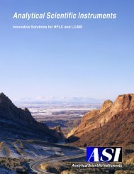 Analytical Scientific Instruments - Teknolab AS