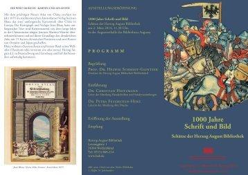 1000 Jahre Schrift und Bild - Herzog August Bibliothek Wolfenbüttel