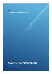 Market Commentary - Albemarle Street Partners LLP