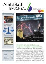 Amtsblatt KW 02/2014 - Bruchsal