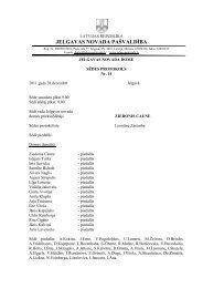 Domes sēdes Nr.14. protokols - Jelgavas rajona padome