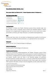 Bericht zum Download - Gemeinsam gesunde Schule entwickeln