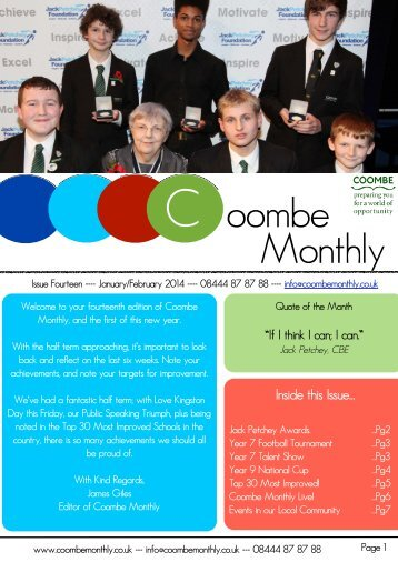 Your Coombe Monthly Live: February 2014