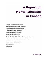 A Report on Mental Illnesses in Canada - Canadian Psychological ...