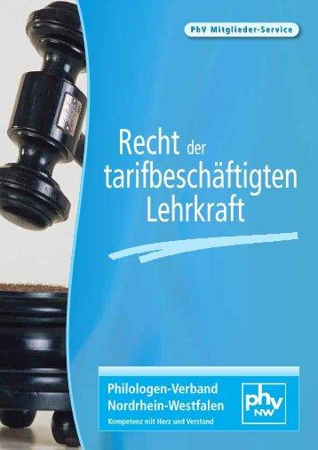 Recht der tarifbescha?ftigten Lehrkraft - PhV NW