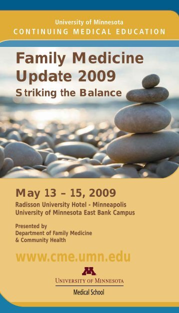 Family Medicine Update 2009 - University of Minnesota Continuing ...
