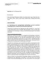 20.12.2010 Kreisschreiben zur Handhabung der ... - Kanton Solothurn