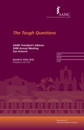 The Tough Questions - Association of American Medical Colleges