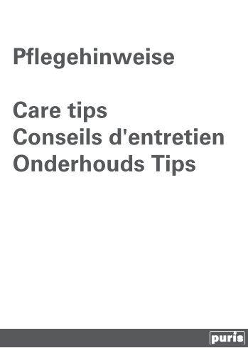Pflegeanleitung-Technische Hinweise-Heft-2010.indd - puris