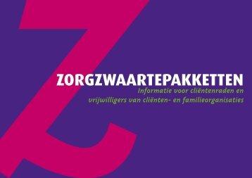 Brochure 'Zorgzwaartepakketten' - Landelijk Platform GGz