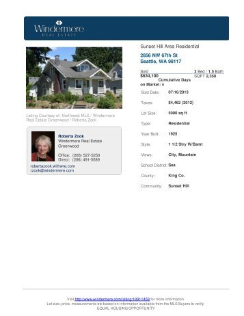2856 NW 67th St Seattle, WA 98117 - Windermere Real Estate