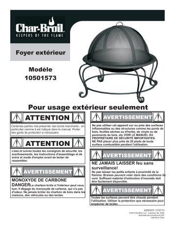 avertissement - Char-Broil Grills