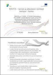 Terveiset RAVITA-hankkeesta Paimionjoen alueelta [pdf, 356 kt] - MTK