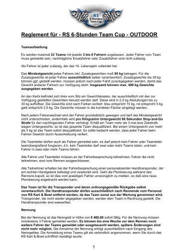 Reglement für 6-Std Teamrennen